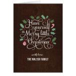 Feliz tipo tarjeta de felicitación del navidad