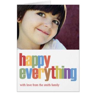 Feliz todo tarjeta de la foto del día de fiesta