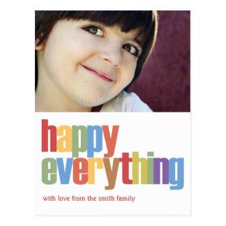 Feliz todo tarjeta de la foto del día de fiesta postal