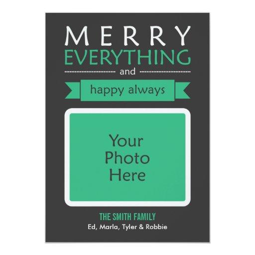 Feliz todo tarjeta de la foto invitación 12,7 x 17,8 cm