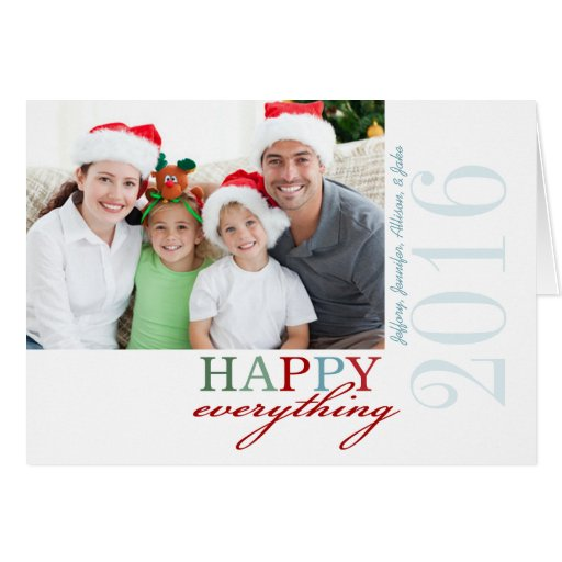FELIZ todo tarjeta doblada foto del día de fiesta