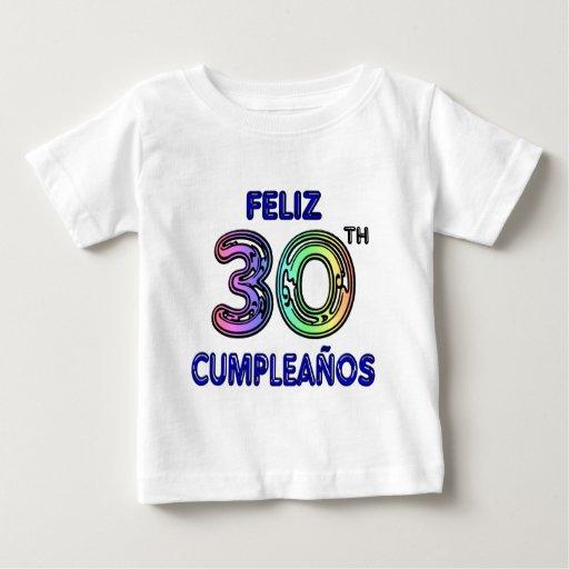 Feliz trigésimo Cumpleaños Remeras