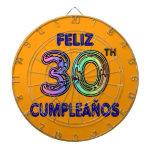 Feliz trigésimo Cumpleaños Tabla Dardos