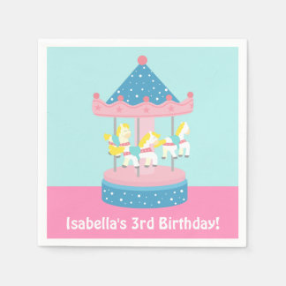 Feliz van las fuentes de la fiesta de cumpleaños servilletas de papel