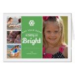 Feliz verde brillante del día de fiesta del collag tarjetas
