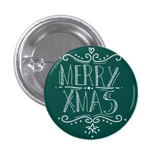 Feliz verde de Navidad Pin Redondo De 1 Pulgada