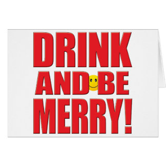 Feliz vida de la bebida tarjeta de felicitación