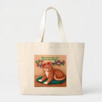 Feliz y brillante bolsa