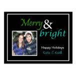 Feliz y brillante tarjeta postal