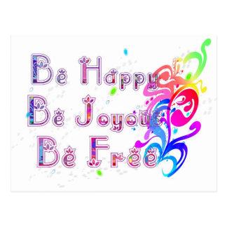 Feliz y libre felices postal