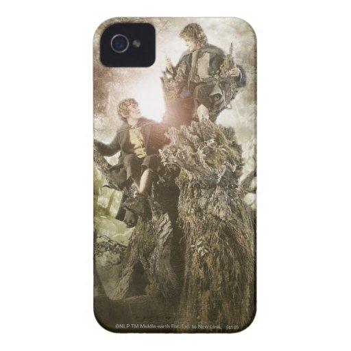 Feliz y Peregrin en Treebeard Case-Mate iPhone 4 Fundas