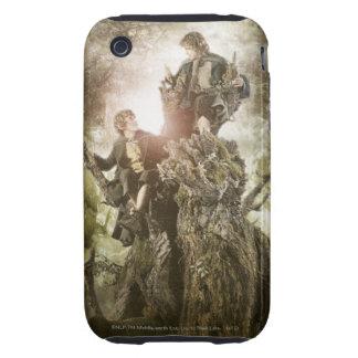 Feliz y Peregrin en Treebeard iPhone 3 Tough Cobertura