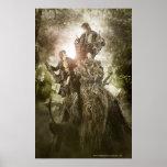 Feliz y Peregrin en Treebeard Póster