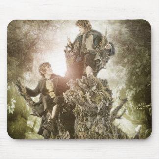 Feliz y Peregrin en Treebeard Alfombrillas De Raton