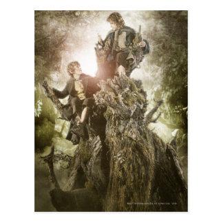 Feliz y Peregrin en Treebeard Tarjetas Postales