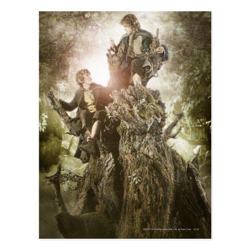 Feliz y Peregrin en Treebeard Tarjeta Postal
