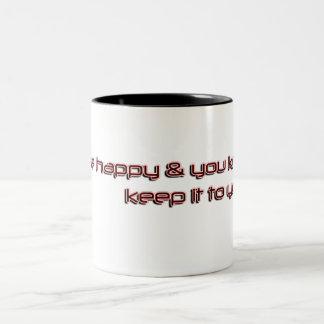 feliz y sépalo taza de café de dos colores