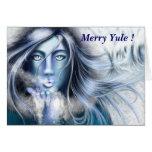 Feliz Yule tarjeta de felicitación de Skadi de Nel