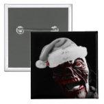 Feliz zombi sangriento Santa de Halloween Pin Cuadrada 5 Cm