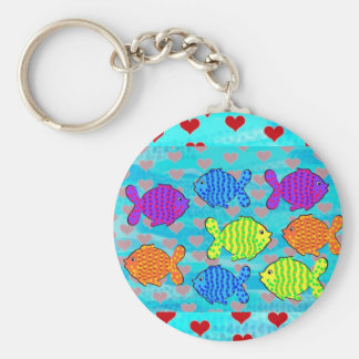 Fell in love fish keychain