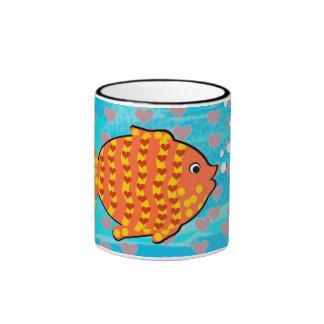 Fell in love fish ringer coffee mug