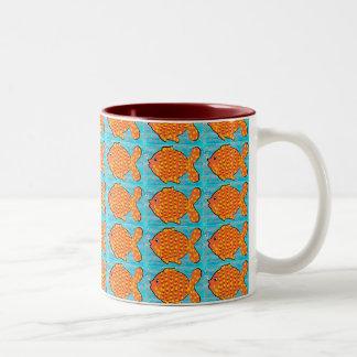 Fell in love fish Two-Tone coffee mug