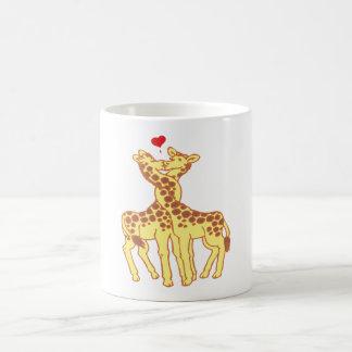 fell in love giraffes giraffes with love classic white coffee mug
