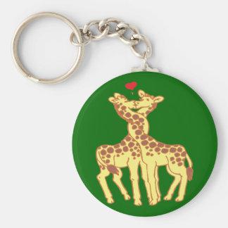 fell in love giraffes giraffes with love keychain