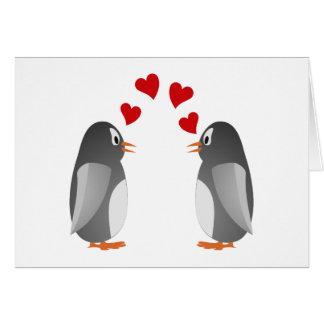 fell in love penguins penguins love cards