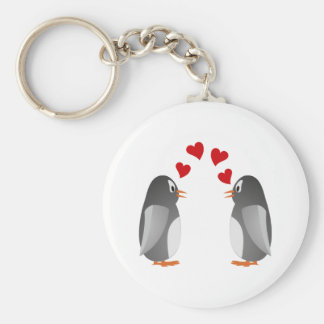 fell in love penguins penguins love keychain