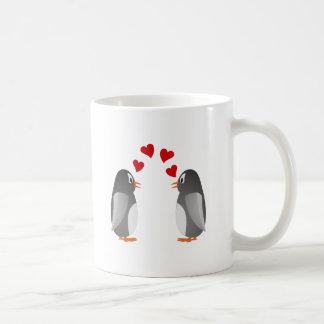 fell in love penguins penguins love classic white coffee mug