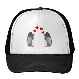 fell in love penguins penguins love trucker hat