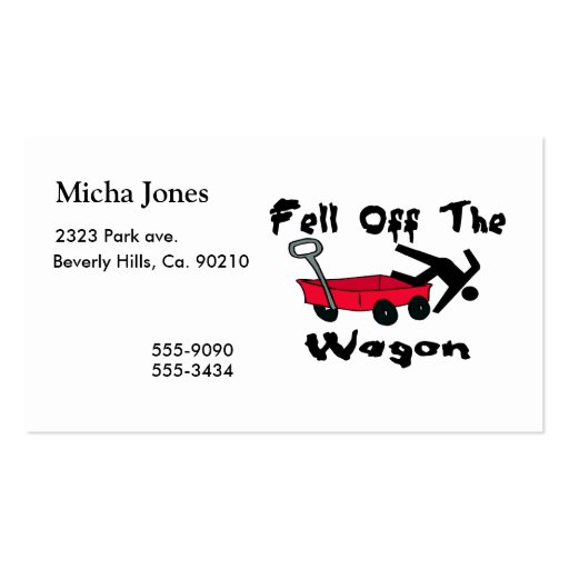 Fell Off The Wagon Business Card