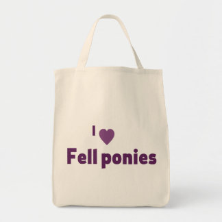 Fell ponies canvas bag