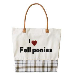 Fell ponies zazzle HEART tote bag