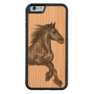 Fell pony cantering iPhone 6 case Carved® Cherry iPhone 6 Bumper