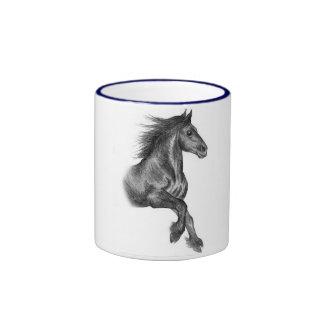 Fell pony cantering mugs
