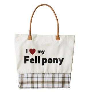 Fell pony zazzle HEART tote bag