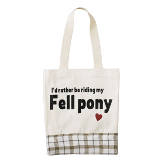 Fell pony zazzle HEART tote bag
