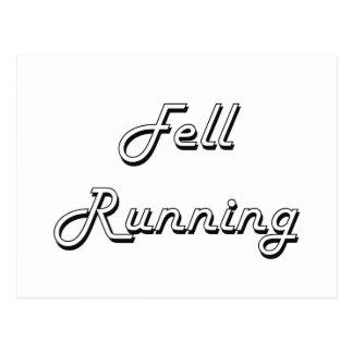 Fell Running Classic Retro Design Postcard