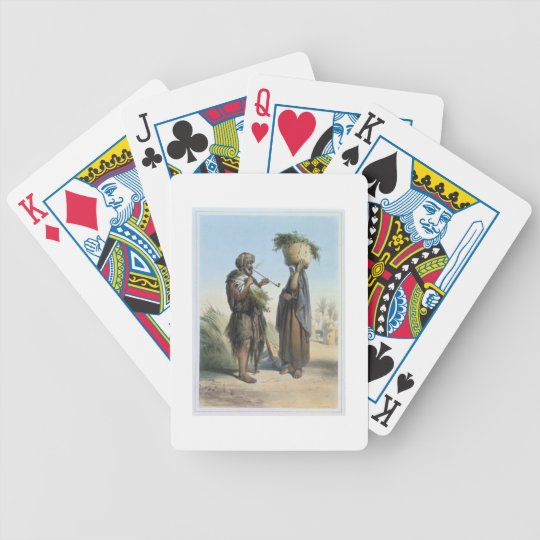 Fellah Man and Woman, illustration from 'The Valle Bicycle Playing Cards