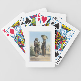 Fellah Man and Woman, illustration from 'The Valle Bicycle Poker Deck