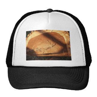 Felled tree trunk close-up trucker hat