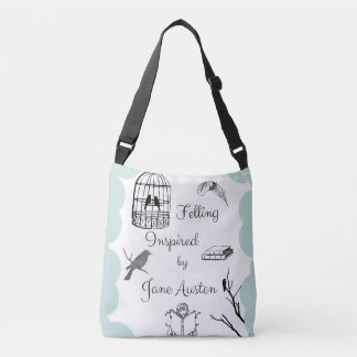 Felling Inspired by Jane Austen Crossbody Bag