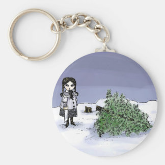 Felling the Holiday Tree Keychain