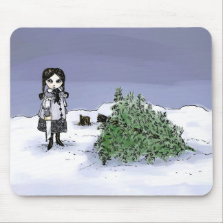 Felling the Holiday Tree Mouse Pad