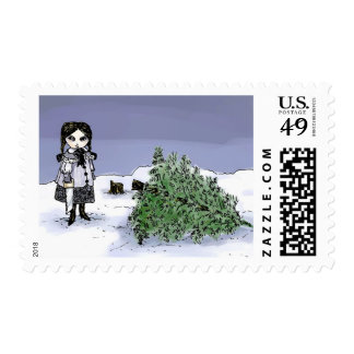 Felling the Holiday Tree Postage