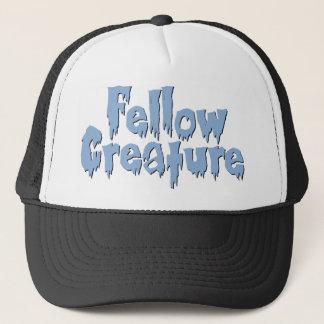 Fellow Creature Blue Horror Movie Logo Trucker Hat