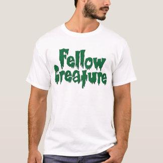Fellow Creature Dk Green Drippy Horror T-Shirt