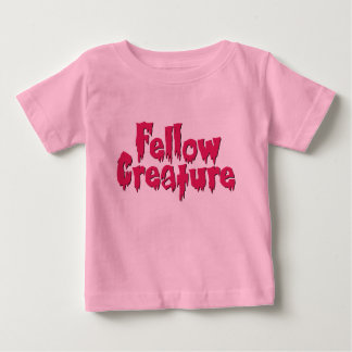 Fellow Creature Horror Movie Hot Pink Baby T-Shirt